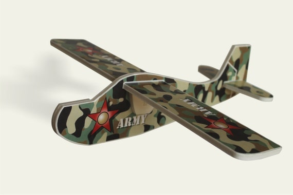 Air plane Aeroplane mobile US army Handmade toy Camouflage plane Military planes Aviation Gift for a boy Birthday party Model kit Plane art