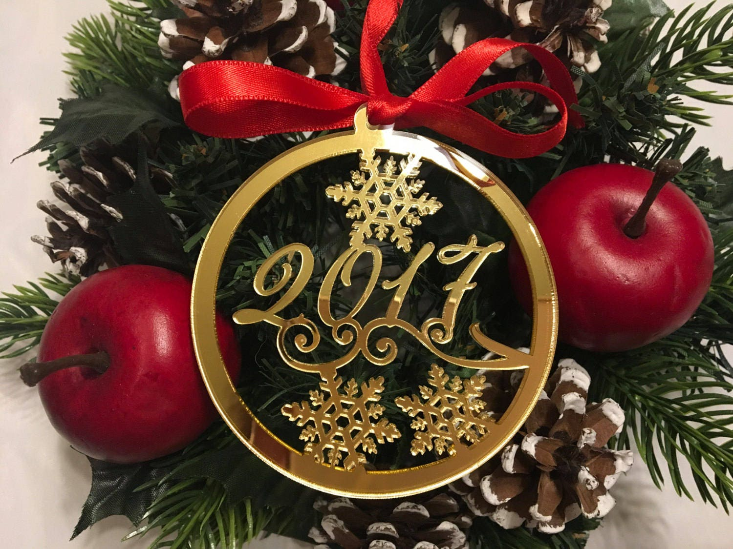 Personalized Christmas Bauble Xmas Name Ornament 2020