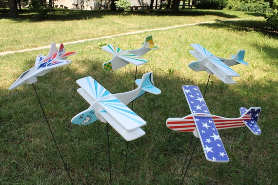 Toys set DIY Airplane toy Handmade Foam glider Educational Montessori toys Aeroplanes Birthday party decor Gift for a boy Kids party ideas