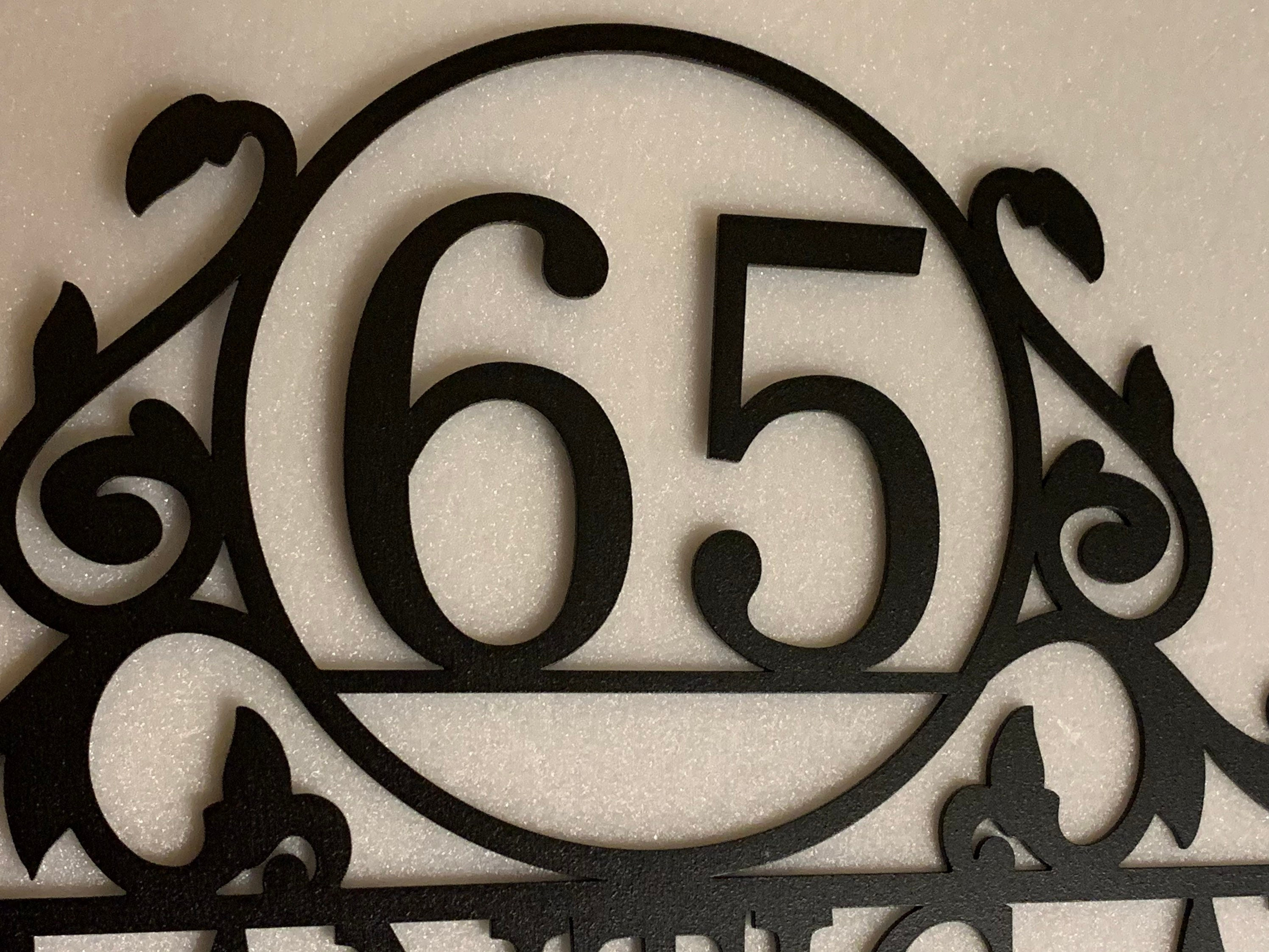 Metal Address Sign Custom Address Sign House Numbers Custom Address Plaque Address Sign 14 Inch Tiukiu Personalized Metal Wall Decor