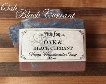 Oak & Black Currant Handmade Vegan Soap