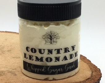 Country Lemonade Whipped Foaming Vegan Sugar Scrub Soap