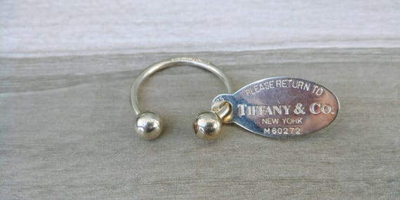 Sterling Silver Large Tiffany & Co Keyring