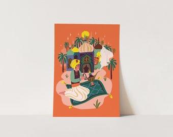 Poster Aladdin - digital print - fairytale - Arabian - poster children's bedroom - nursery - poster kids room