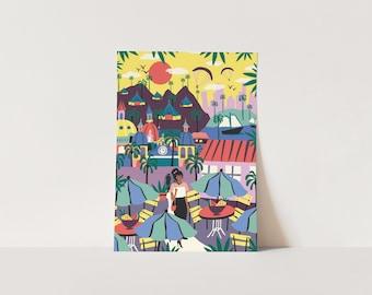 Poster Latin City Life - A3 or A4 artprint
