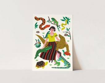 Poster Reptiles - print - animals poster - poster children's bedroom - nursery - poster kids room - girls poster - poster animals - snakes
