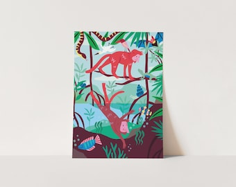 Mangroves Poster A4 or A3 print kids room