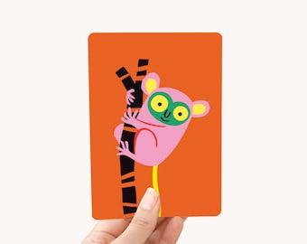 Postcard A6 Tarsier - Greeting Card for kids