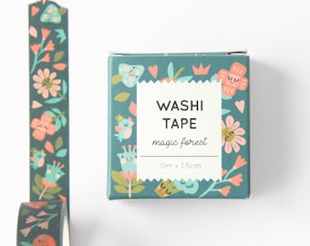 Washi tape - Magic Forest - 10m x 1.5cm
