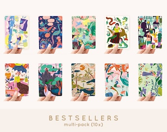 Cards A6 MULTI-PACK! 10x - Bestsellers greeting cards / postcards