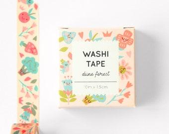 Washi tape dune forest masking tape 10 m x 1,5 cm decoration books flowers craft materials washi tape set washi tape sale pink cute washi