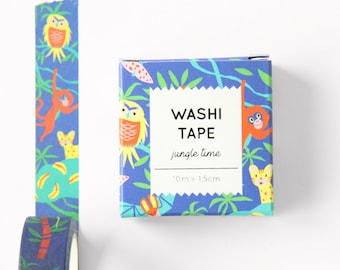 Washi tape - Jungle Time - 10m x 1.5cm
