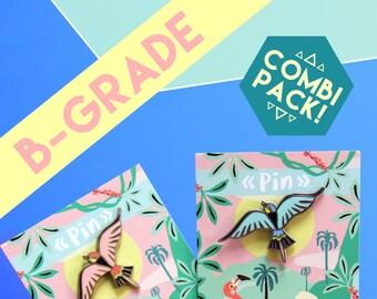 B-GRADE bird pin COMBI-PACK! Set of two pins