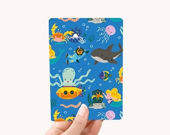 Postcard A6 - Under the Sea - greeting card / postcard