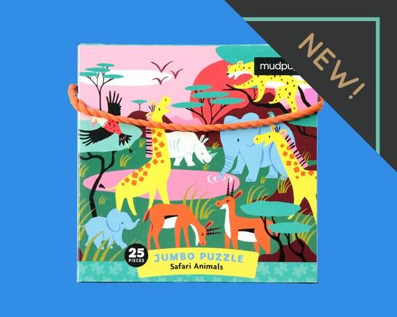 Jumbo XL puzzle Safari 25 puzzle pieces jeux pour cadeau d'enfants pour garçons-cadeaux idée enfant enfants cadeau puzzle animaux jeu kids