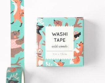 Washi tape - Wild Woods - 10m x 1.5cm