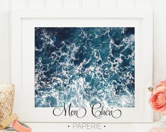 Ocean Waters  Wall Art   Ocean Printable Wall Art    Home Decor   Wall Print  Wall Art   Beach Prints   Beaches   Blue Ocean