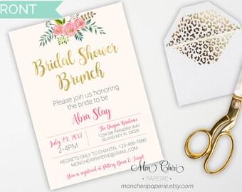 Floral Bridal Shower Invitation | Bridal Shower | Watercolor Floral  | Bridal Party Invitation | Printable Invitation
