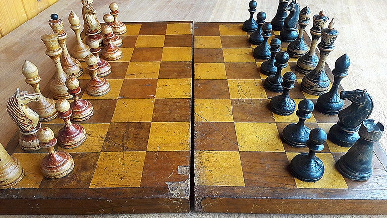 Chess tournament prize gifted chess USSR 1928-1929 dated read description Old antique soviet chess set 1920s made