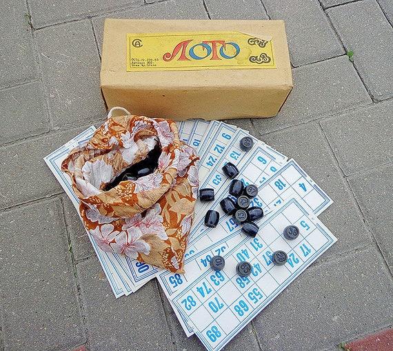 Vintage soviétique jeu Loto, Bingo russe