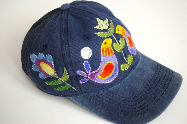 eb1156bbe8cde Hand embroidered baseball caps Handmade embroidery hats female