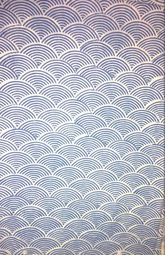 5 Yards Geometric Block Print Fabric Design Pattern Printed Etsy