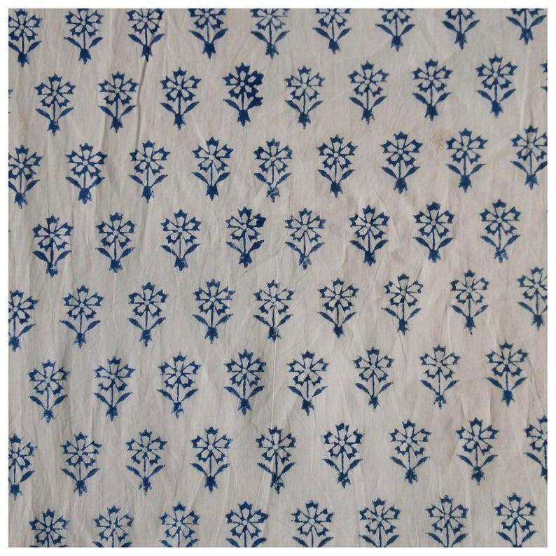Printed Fabric Printed Cotton Fabric 5 Yards Hand Block Print Fabric Indian Cotton Fabric Cotton Printed Fabric Block Print Fabric