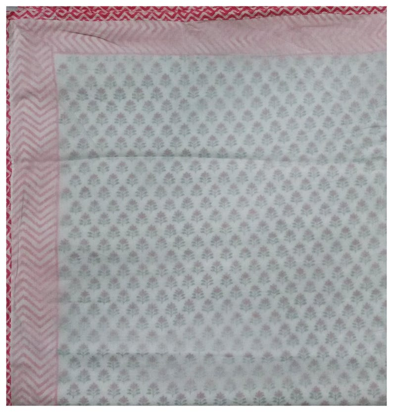 Indian Dohar AC Dohar Baby Throw Baby Blankets Kingsize Throw AC Blankets Dohar Bed Spreadsheet Baby Dohar Handmade Throw