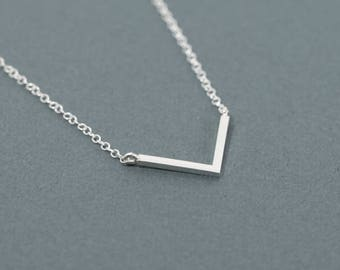 Layering Necklace, Chevron Necklace, Minimalist necklace, V necklace.
