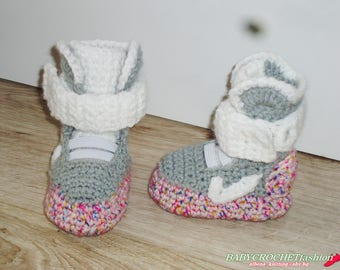 Crochet Baby Shoes Sneakers Crib Handmade Kids Slippers Newborn New Girl Booties Unisex