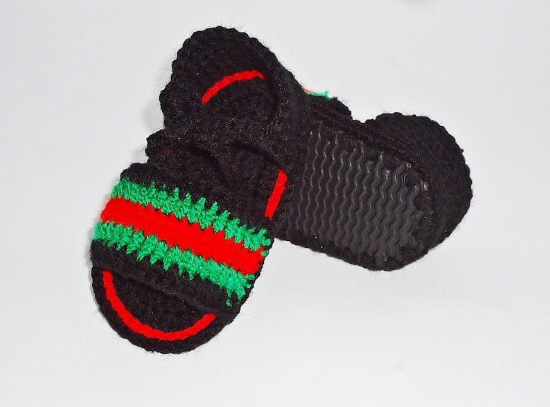 3c652f181 Baby Sandals Crochet baby sandals Gucci Slide Sandals Baby