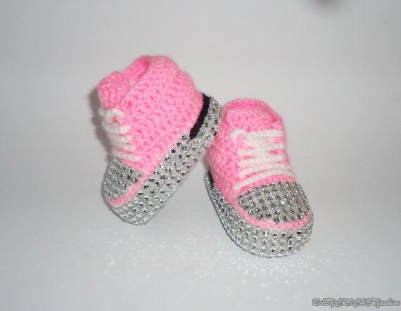 Bebé Zapatos Ducha Rosa Converse Zapatos Regalo Bautismo Bebé De Bautizo qtZft