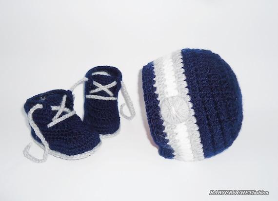 Haak Set Voor Jongen Muts En Schoentjes Gehaakte Pasgeboren Etsy
