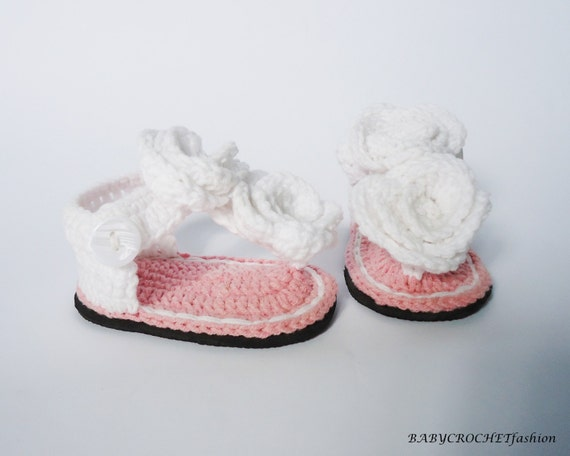 Gehäkelte Baby Sandalen Gladiator Sandalen Baby Häkeln Etsy