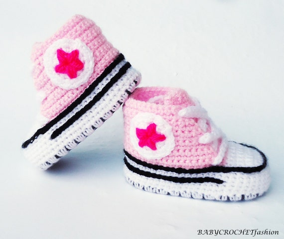 best website d340c 95669 Baby Schuhe, Babyschuhe, Pink Schuhe, Converse Mädchen, Kleinkind Schuhe,  Baby Schuhe, Schuhe für Geschenk, Nevborn-Babyschuhe gehäkelt