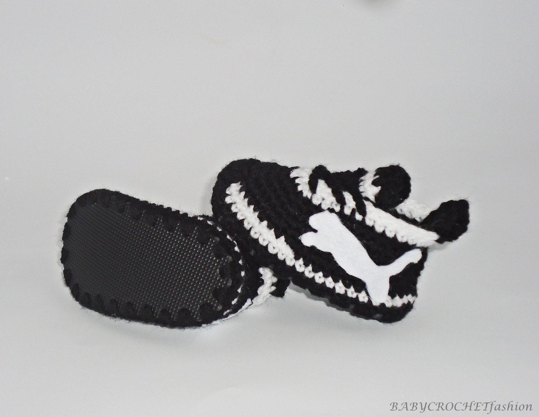 Zapatillas de bebé negro zapatos de bebé zapatos de tenis | Etsy