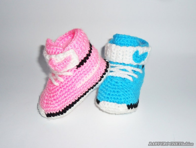Crochet Baby Converse Baby Shoes Baby Converse Nike  aae628d7c9d3
