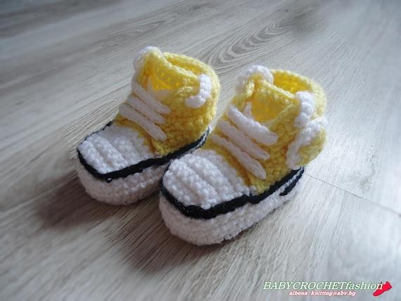 Baby Turnschuhe Häkeln Gelb Baby Schuhe All Star Sneakers