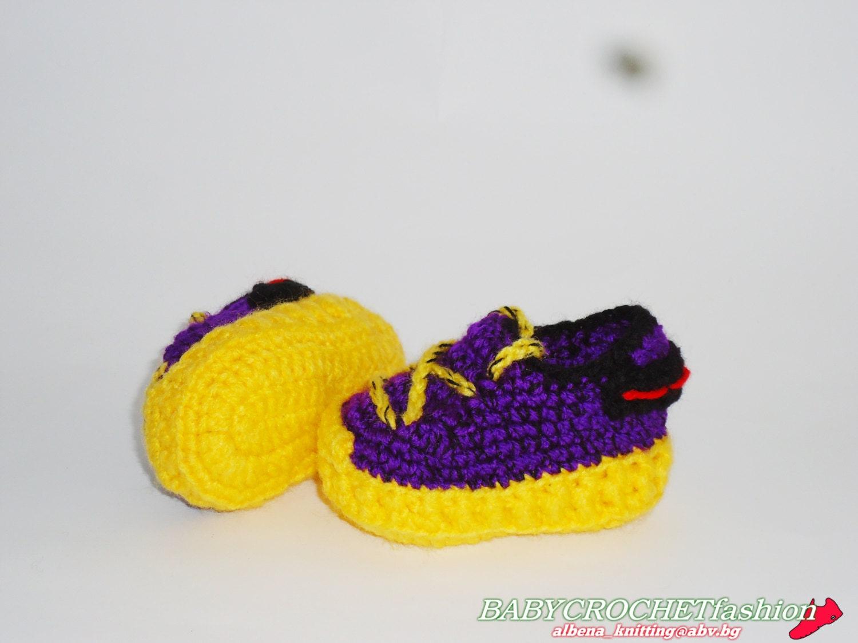 Zapatos de niño botas de Crochet zapatos el Yezzy 350 | Etsy