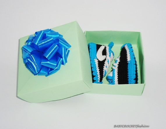 Nike Schuhe für Baby, blau gestrickte Schuhe, Basketballschuhe, Baby Krippe Schuhe, Junge Baby Sneakers, häkeln Babyschuhe, Baby Booties,