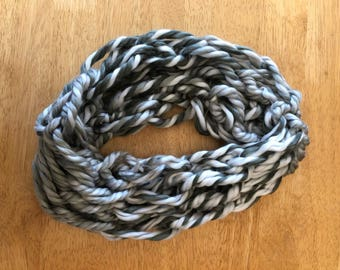 Gray Ombre Infinity Scarf