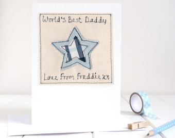 Father's Day Card - Personalised 1st Father's Day Card - Card For Daddy - Card For Dad - Fathers Day Card For Grandad - First Fathers Day