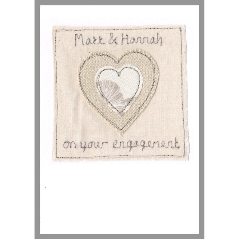Linen 4th Anniversary Engagement Card Cotton 2nd Anniversary Wedding Anniversary Card Personalised Heart Wedding Card
