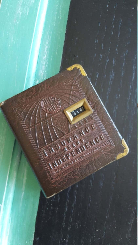 Bank 3 Meter.Vintage Addo Meter Book Bank Advertisement Memoribilia