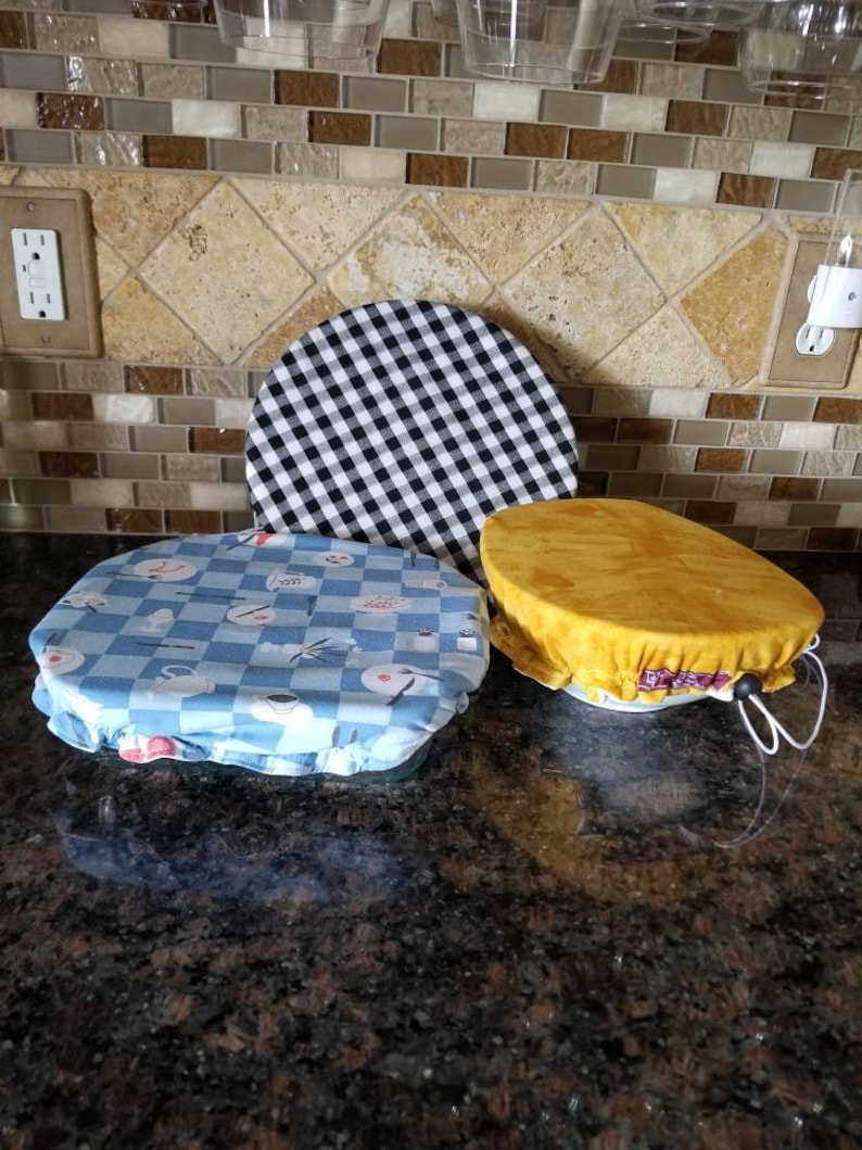 Bowl Covers  Reusable Bowl and Plate Covers  RV Camping Picnic Accessories  Hostess Gift