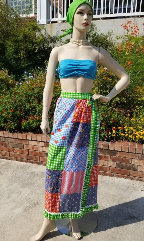 Vintage MOUNTAIN ARTISANS Skirt / Patchwork Wrap A