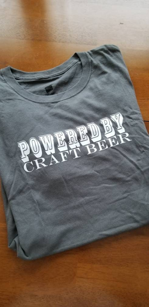 fcafbf327 BEER Shirt / Alcohol T Shirt / Powered by Craft Beer / May Contain ...