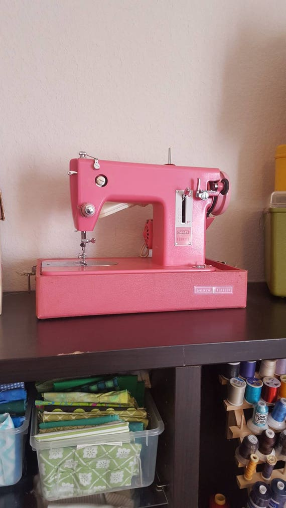 Vintage Pink Sears Kenmore Sewing Machine / Pink / Shabby Chic