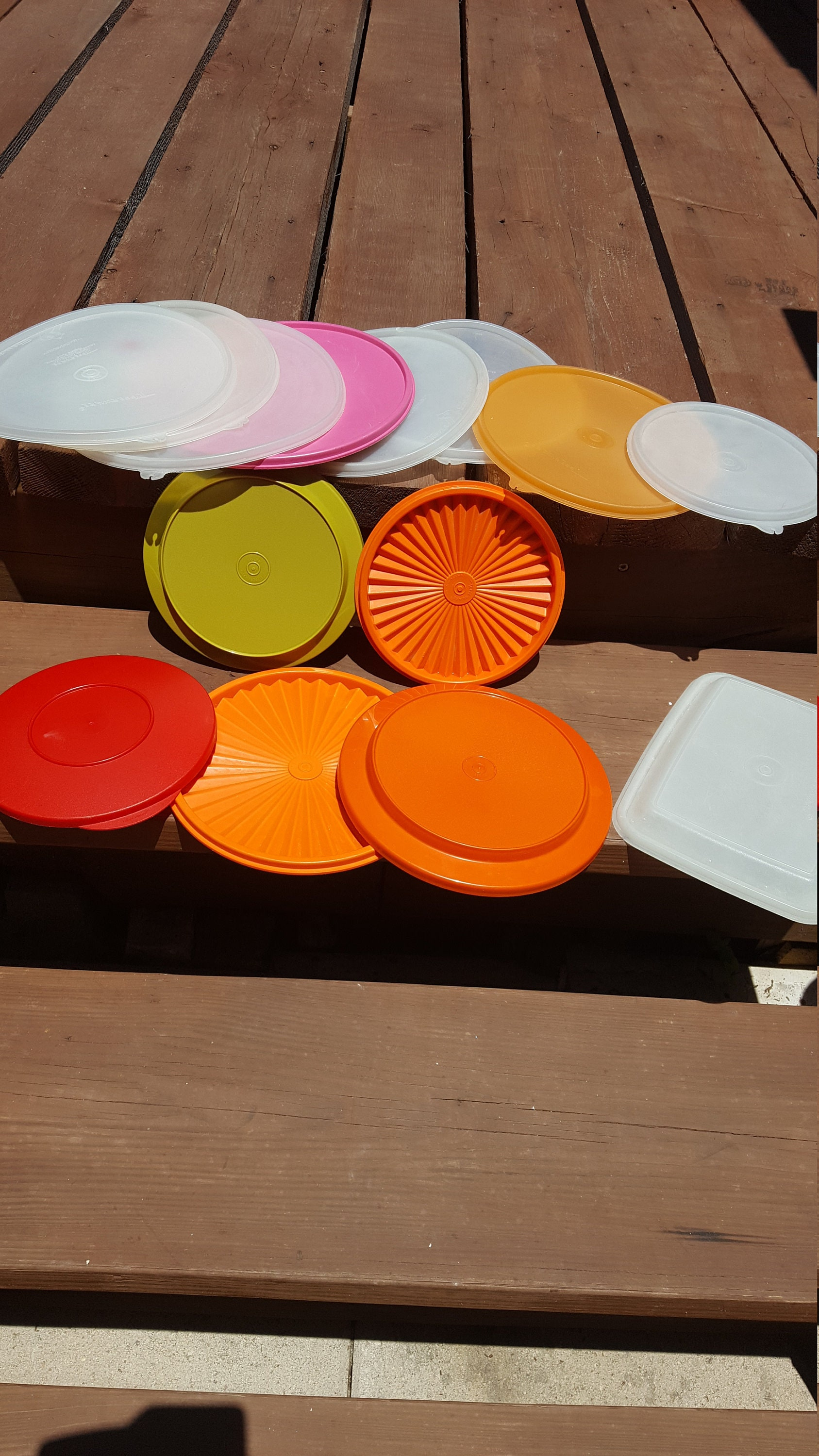 Vintage Tupperware Lids Replacement Lids Tupper Ware Tupper Seal