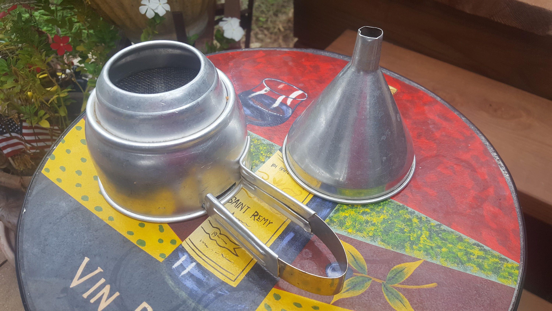 Vintage Aluminum Foley Sifter / Aluminum Funnel / Retro Kitchen Gadgets /  Camping / RV / Movie Photo Prop / Farmhouse